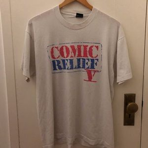 Vintage 90s Comic Relief t shirt